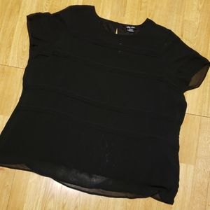 NWY City Chic pintuck lace black top XXL/24
